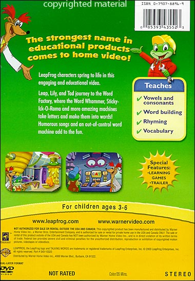 word factory game Dvd talking words factory / talking words factory ii / learn to read at the storybook factory / letter new york game factory the clever factory snark factory.